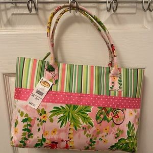 Lily Pulitzer look-Talbots handbag fun colors NEW